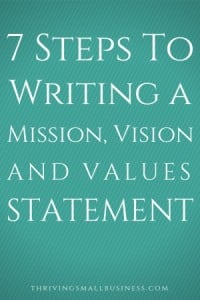 How to Write a Vision, Mission and Values Statement