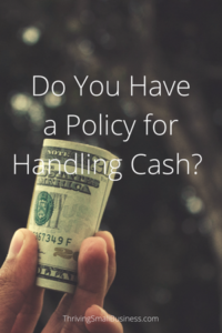 Cash Handling Policy Example
