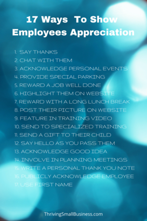 17 ways managers can show employees appreciation the thriving