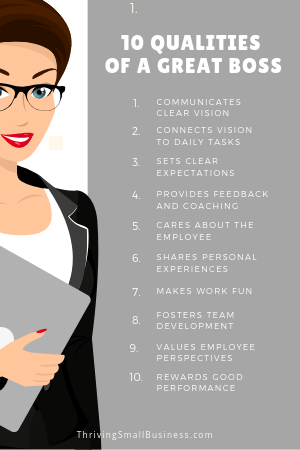 qualities of a good boss